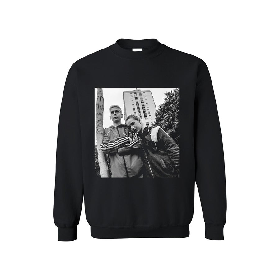 Image of SWEATSHIRT LOVERS / BLACK / UNISEX