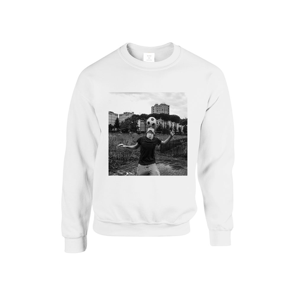 Image of SWEATSHIRT FOOTBALL / WHITE / UNISEX