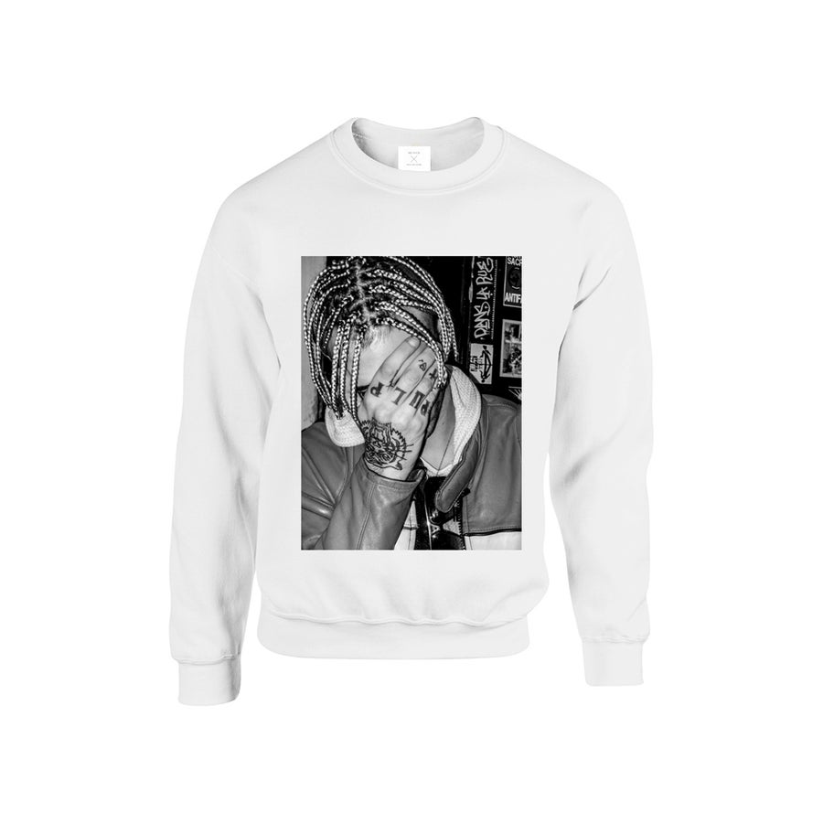 Image of SWEATSHIRT ACHILLE LAURO / WHITE / UNISEX
