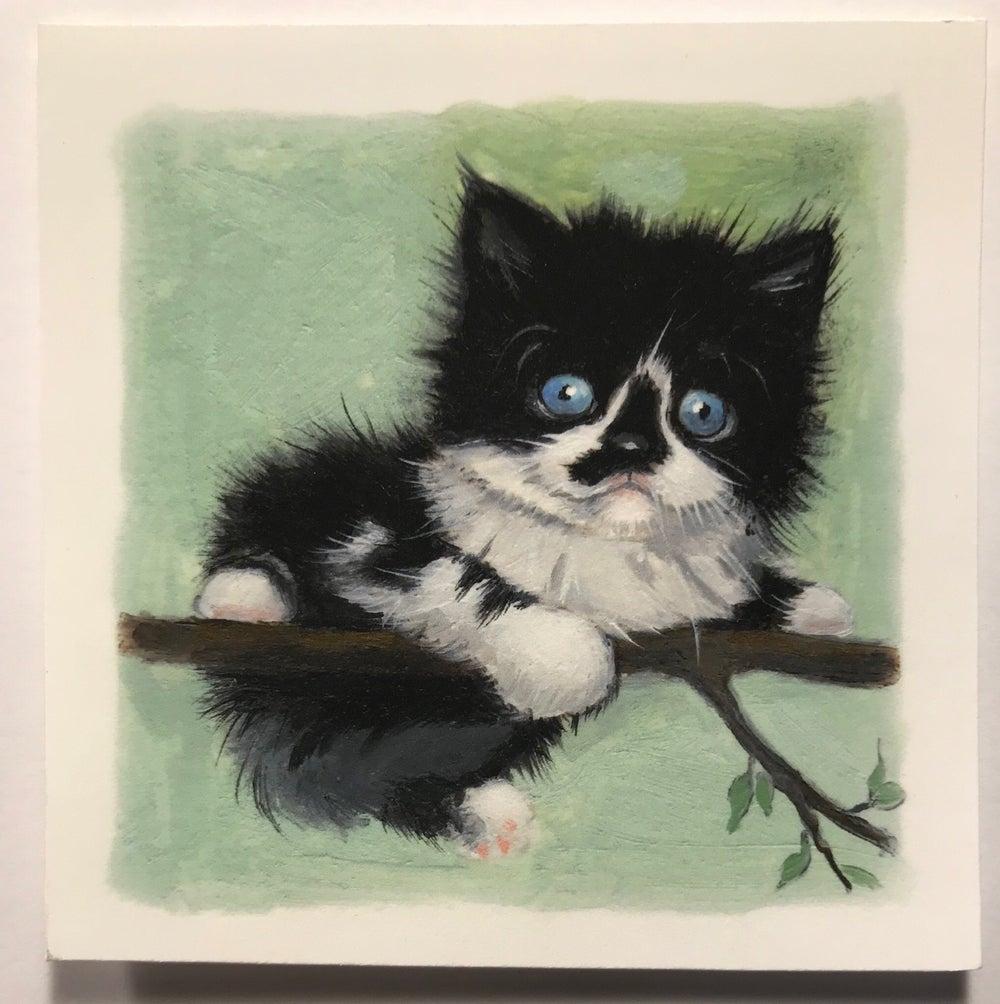 "Image of ""Tux II"" miniature print"