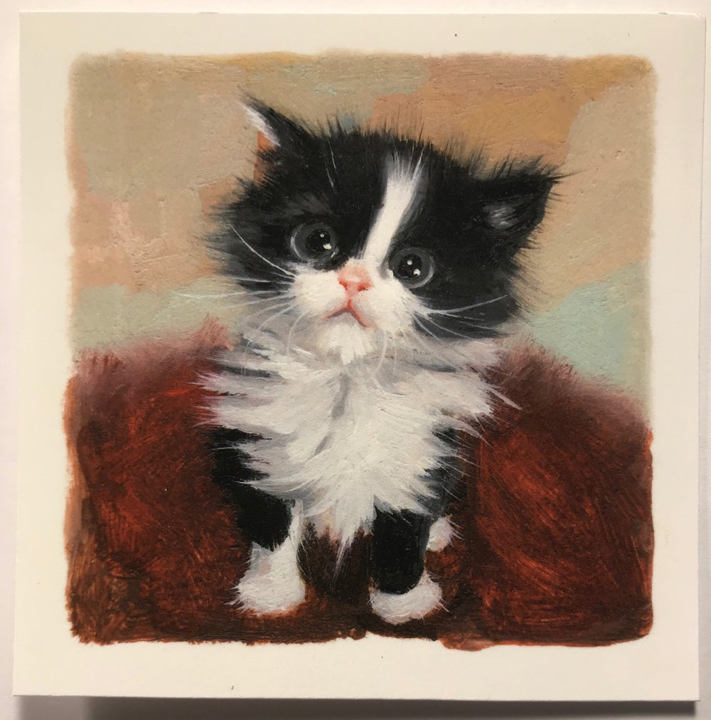 "Image of ""Tux"" miniature print"
