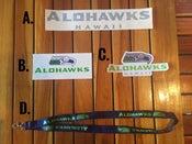 Image of Alohawks Stickers & Lanyard