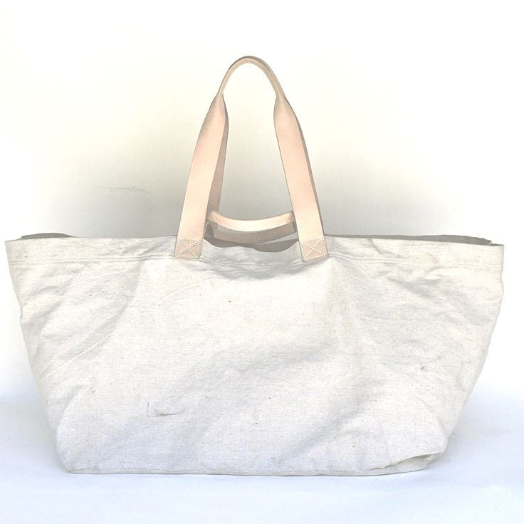 Image of CARRYALL / Canvas & Natural Cow (NEW size!) Medium & Large