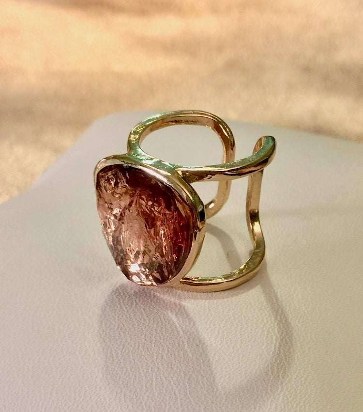 Image of Foil Stone Cage Ring (More Colors)