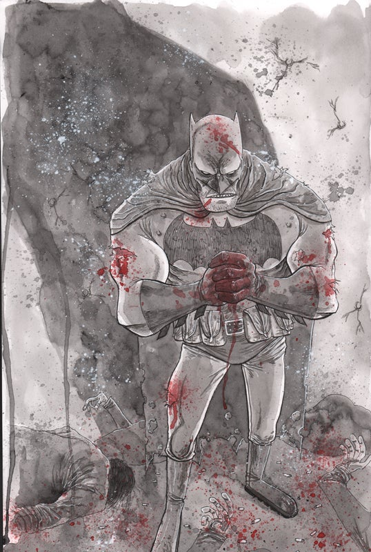 Image of FRANK MILLER'S BATMAN ORIGINAL ART