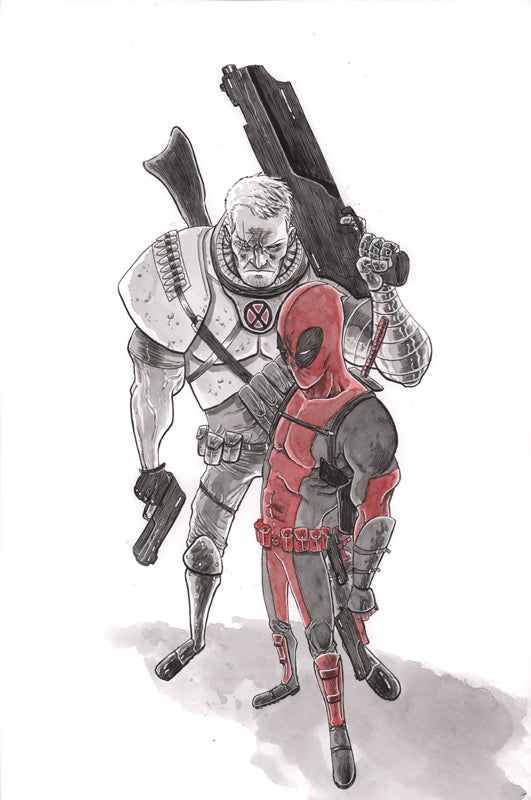 Image of DEADPOOL & CABLE ORIGINAL ART
