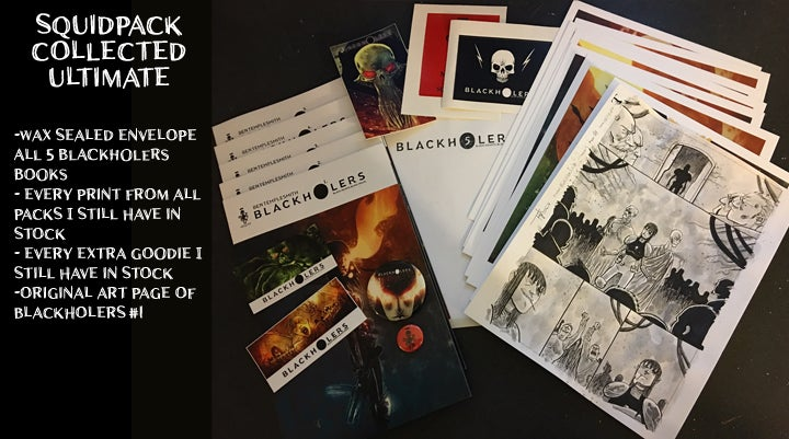 Image of BLACKHOLERS ALL ISSUES COLLECTED ULTIMATE SQUID PACK
