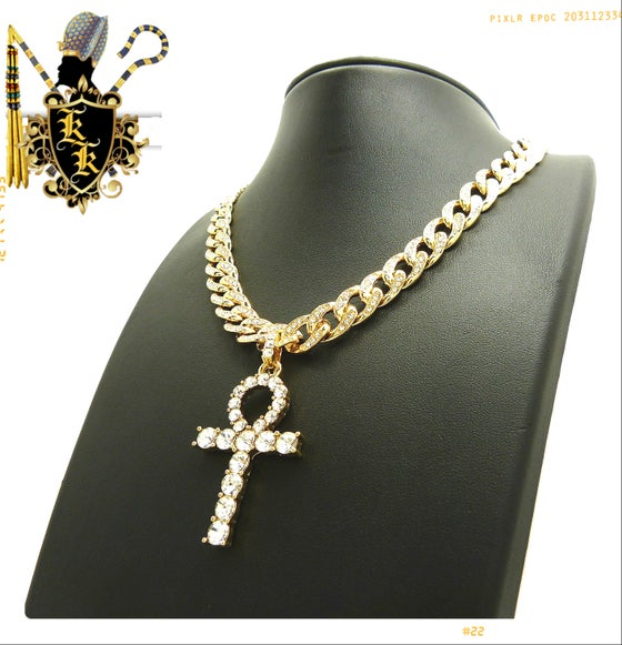 Image of ICED OUT AHNK w/ ICED OUT CUBAN LINK