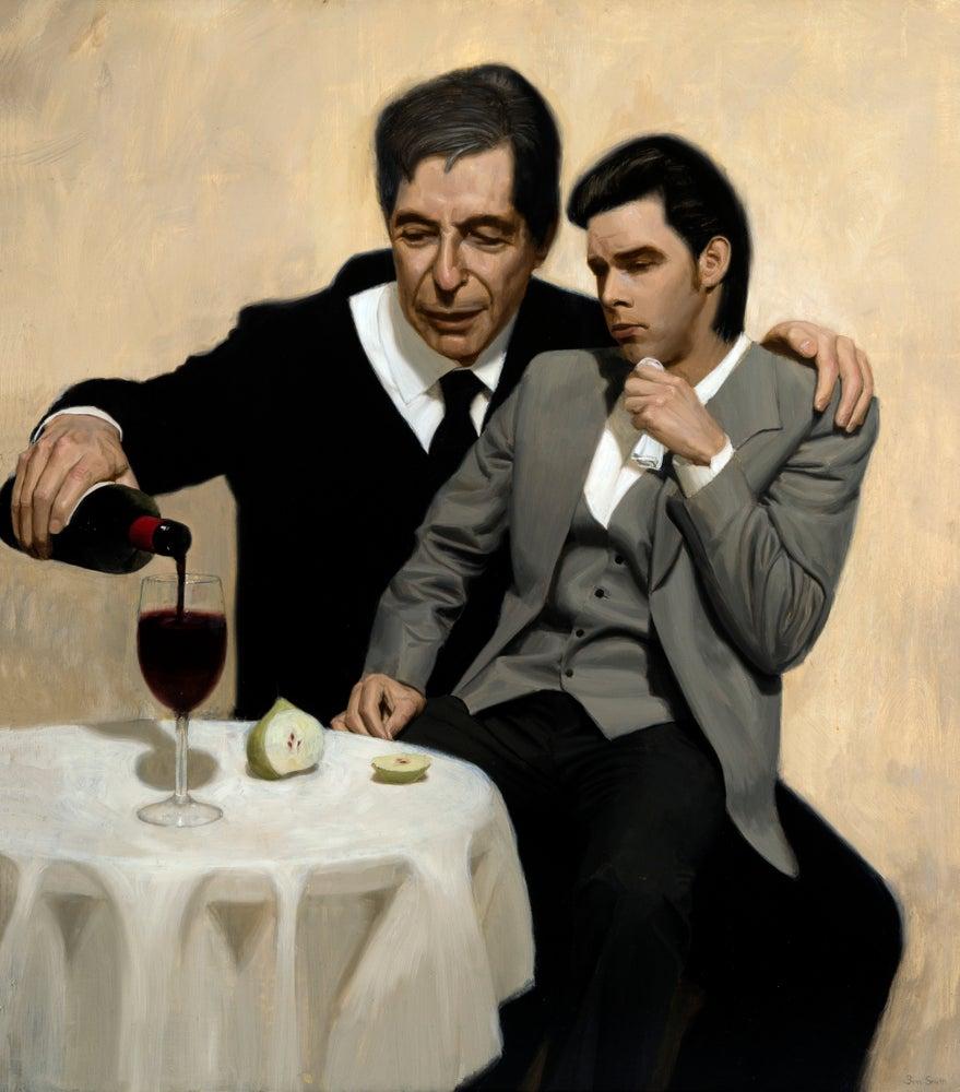 Image of The Influence - Leonard Cohen Consoles Nick Cave (87 x 75cm) $590 Australian Dollars