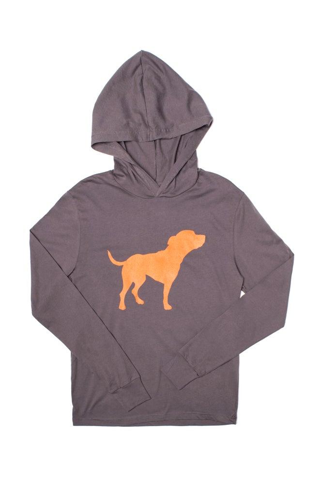 Image of asphalt long sleeve tiny tim hoodie-unisex sizing