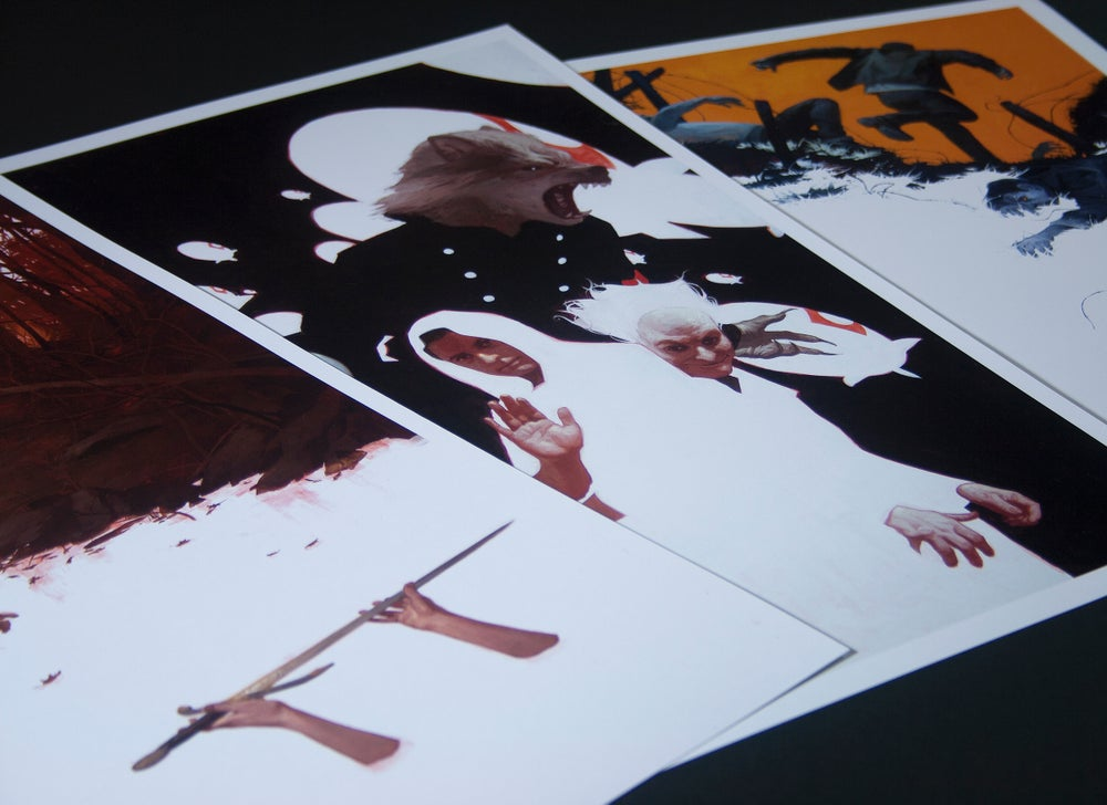 Image of Morte D' Arthur - Wax Ink Print