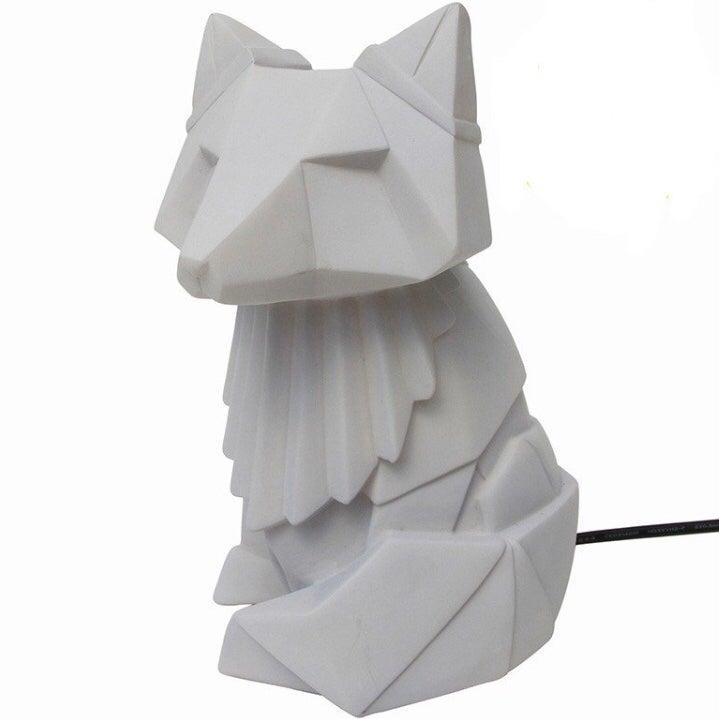 Image of Grey Fox Origami LED Light Lamp