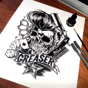 Image of GREASER - Ink on paper