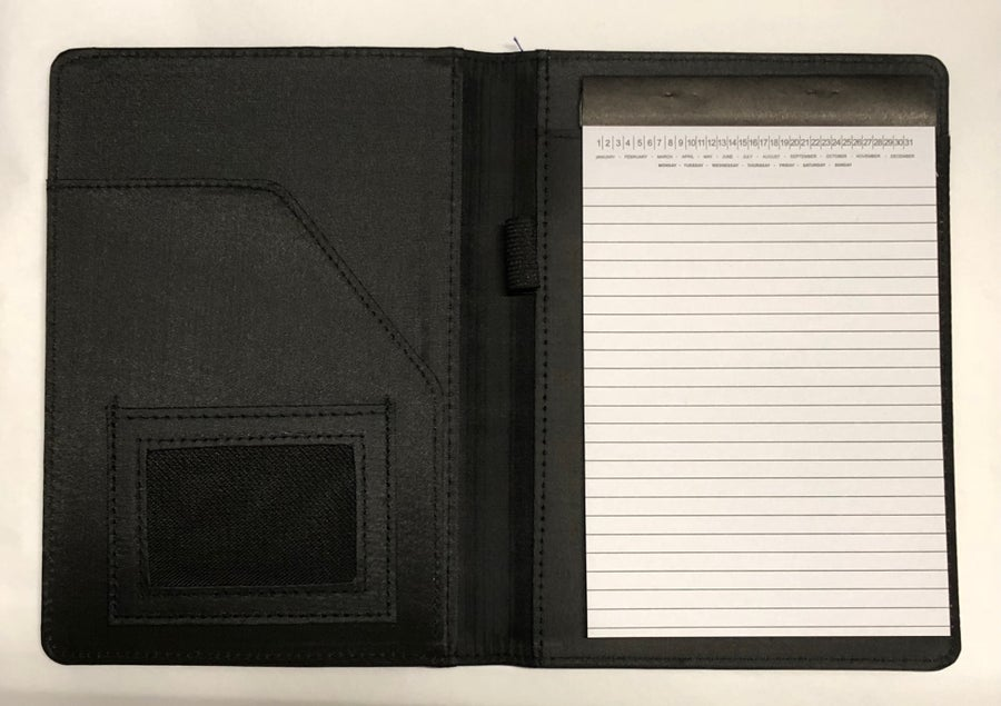 Image of Vinyl Notebook with ID Holder, Notepad and Versatile Calendar