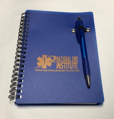 Image of Blue Plastic Notebook with Pen