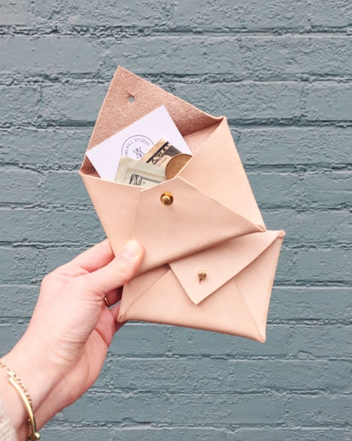 Image of Leather Envelope Pouch