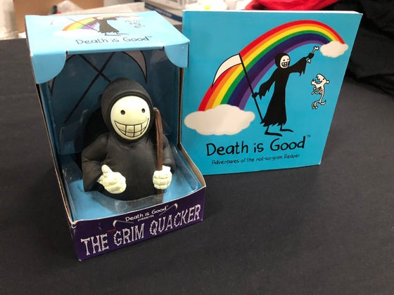 Image of Death is Good Holiday Special! Book plus Grim Quacker Rubber Duck!
