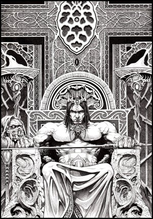 Image of Throne- 13x19 LIMITED edition HOLIDAY 2017 (signed)