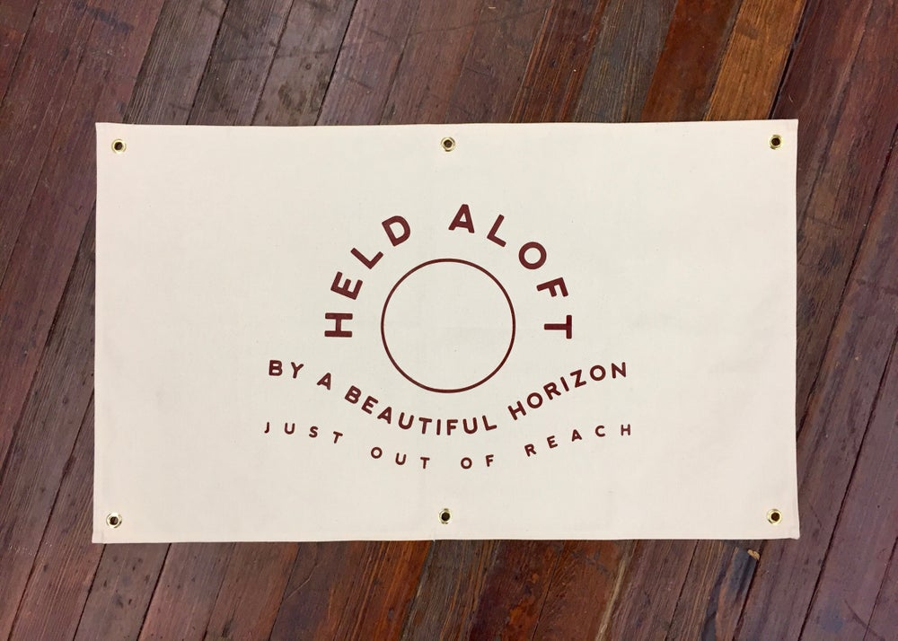 Image of Held Aloft - Canvas Banner