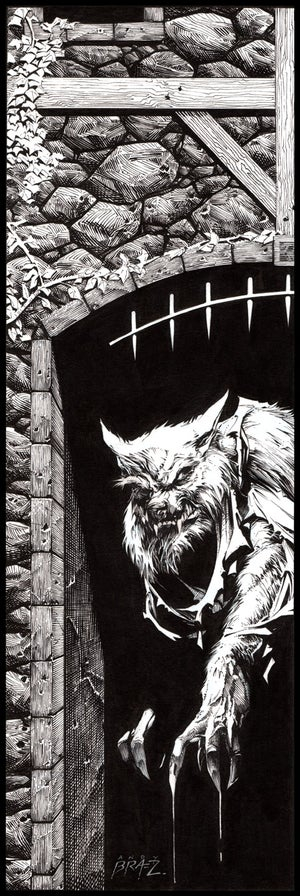 Image of Werewolf- 13x19 LIMITED edition HOLIDAY 2017 (signed)