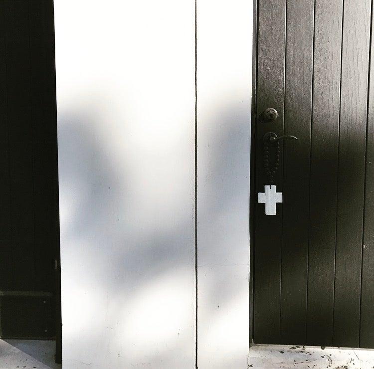 Image of N E W !  RECLAIMED MINI LOVE BEADS - WHITE ON BLACK