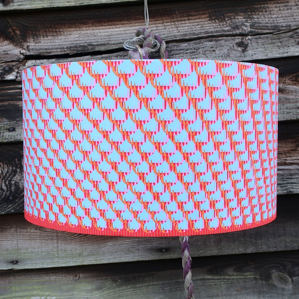 Image of Together lamp shade (pink, blue, red and orange)