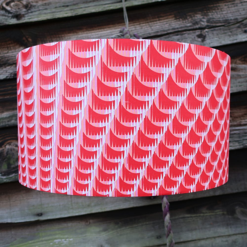 Image of Together lampshade (red, pink and white)