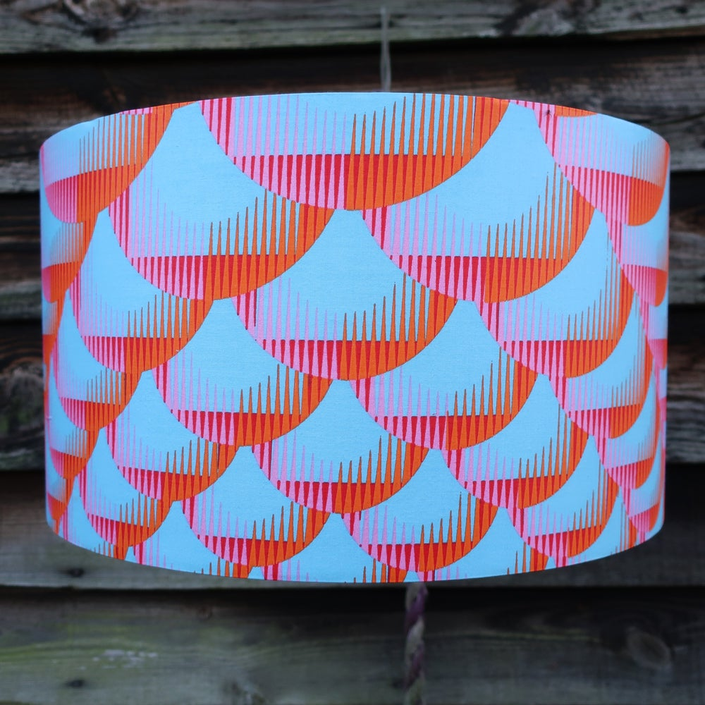 Image of Together lampshade (blue, pink, orange and red)