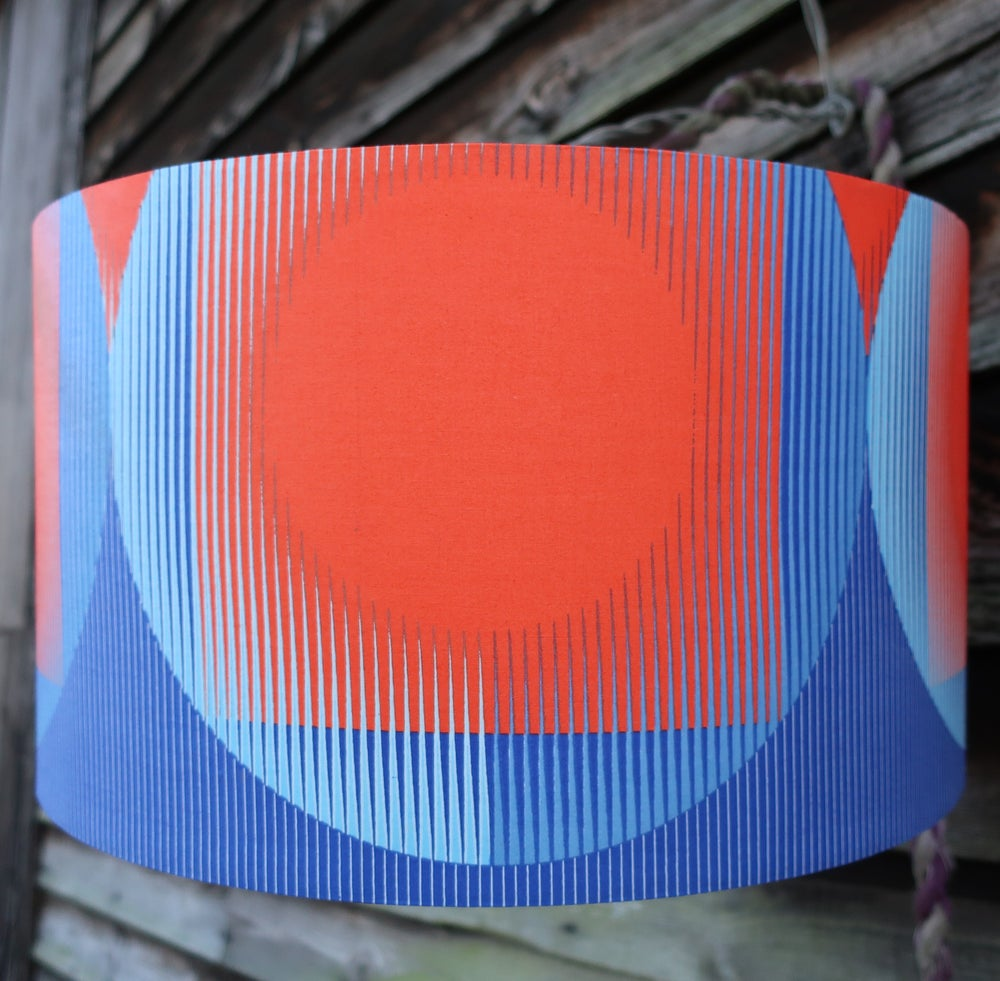 Image of Together lampshade (large red and blue)