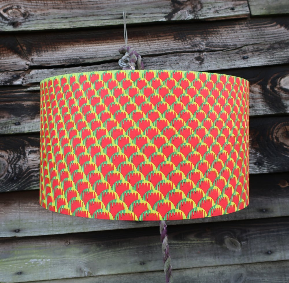 Image of Together lampshade (red, green, yellow small detail)