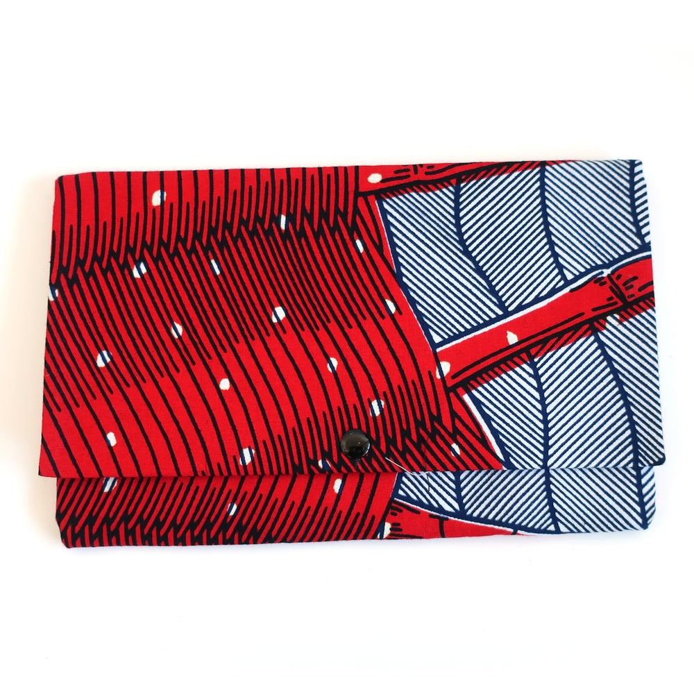 Image of Medium clutch (red, white and blue web)