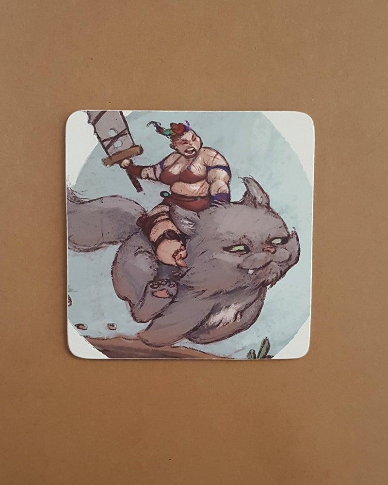 Image of Battle Kitten Coaster