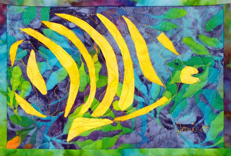 """Image of """"Fractured Fish #1"""", Signed & Matted, archival Art Print. 8 1/2"""" x 11""""."""