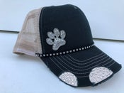 Image of Triple Crystal Trucker Hat Crystal Paw