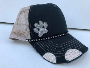 Image of Triple Crystal Trucker Hat Crystal Paw