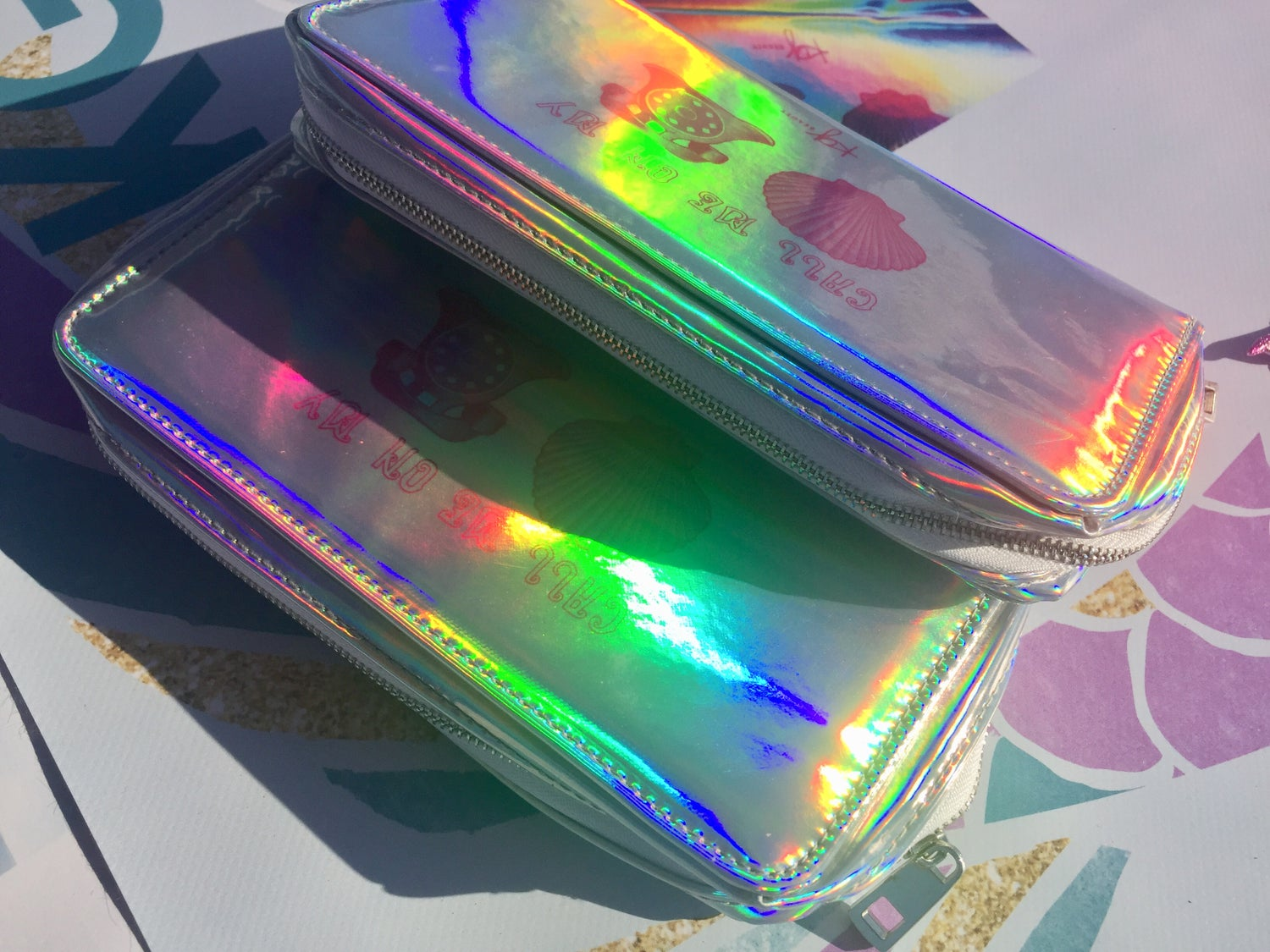 Image of Holographic Makeup Bag