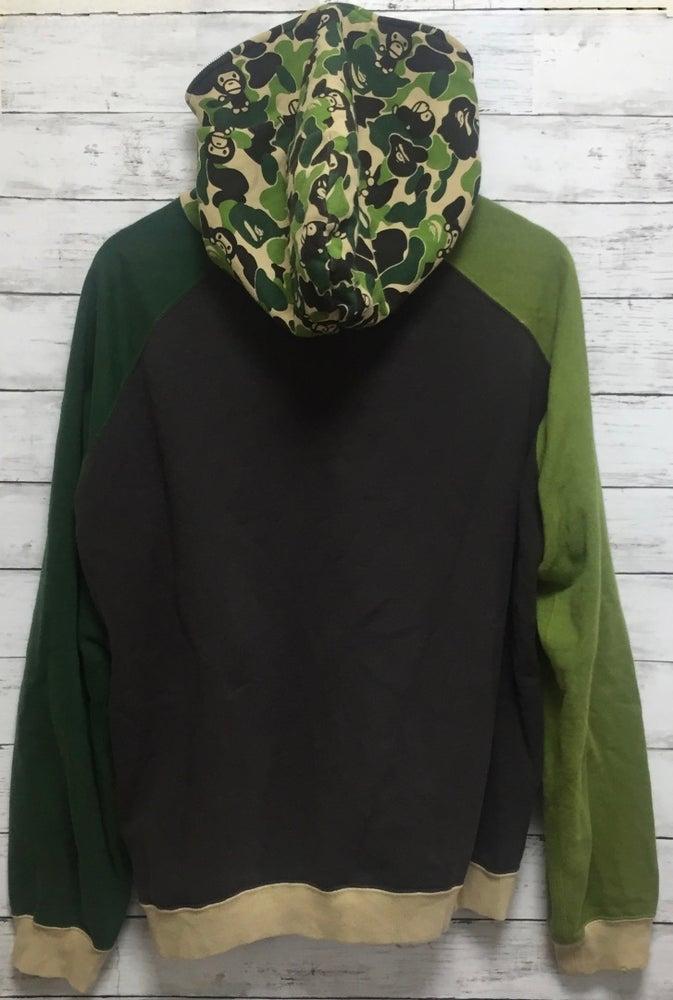 Image of Bape Baby Milo Green Camo Color Block Full-Zip Hoody
