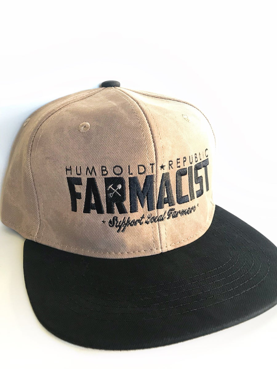 "Image of ""Farmacist"" Waxed Snapback Hat"