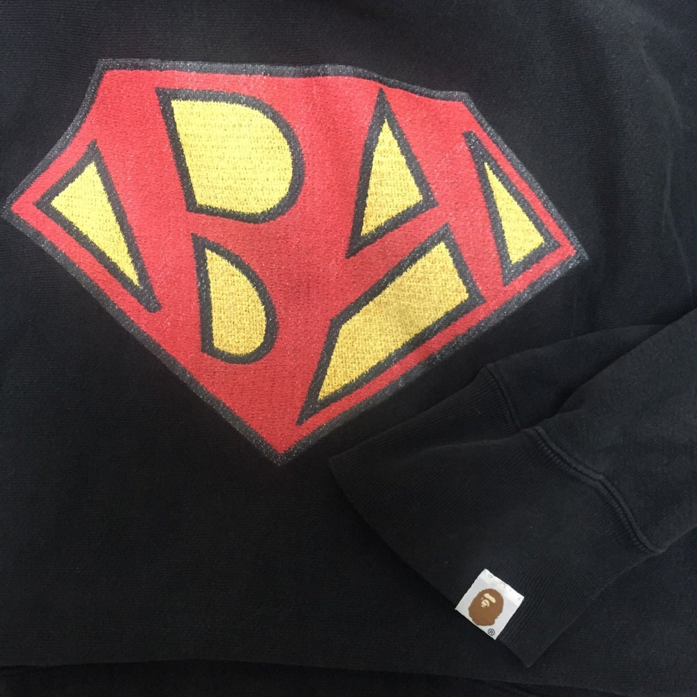 Image of Bape SuperBape Logo Hoodie