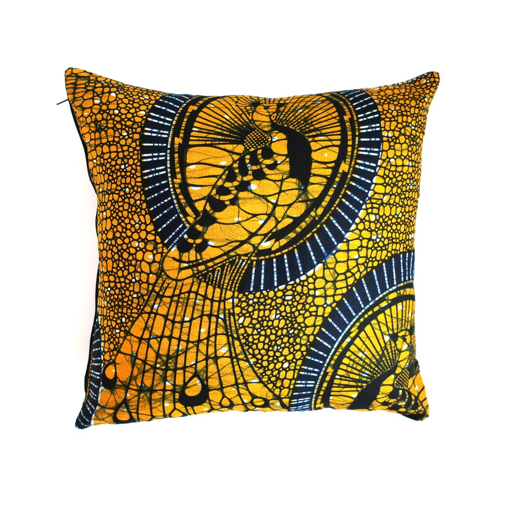Image of Peacock cushion cover
