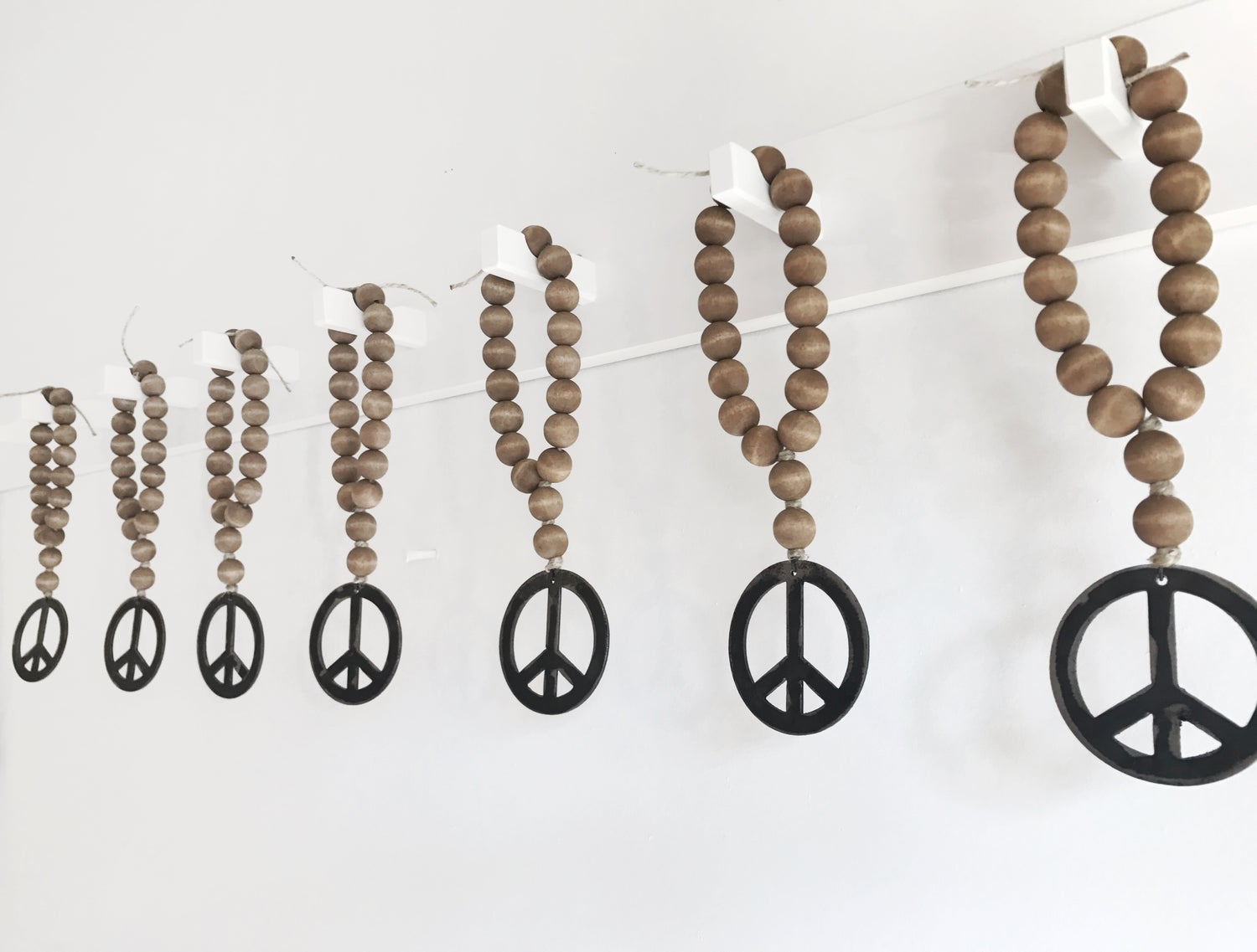 Image of MINI LOVE BEADS - BROWN PEACE