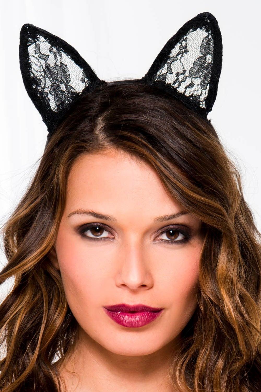 Image of Music Legs Lace Cat Ears Headband