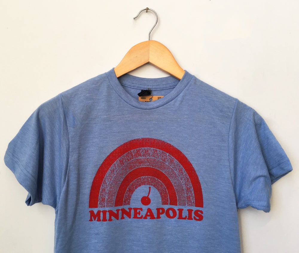 Image of Minneapolis Cherry Rainbow Tee - Unisex