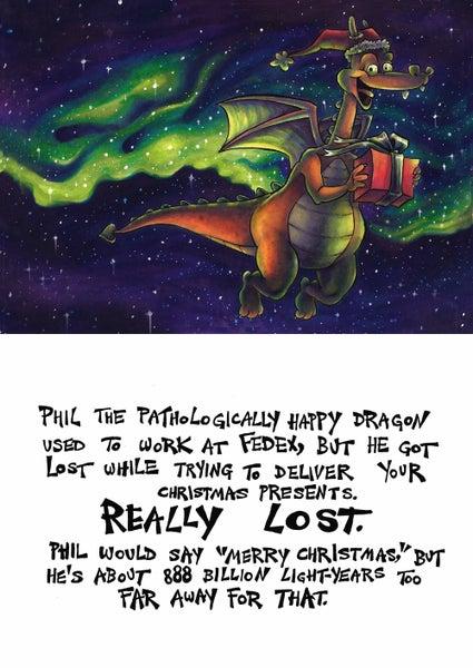 Image of Phil the Dragon Christmas Card