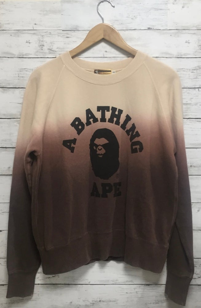 "Image of Bape ""Mad Ape Head"" College Gradient Sweatshirt Br"