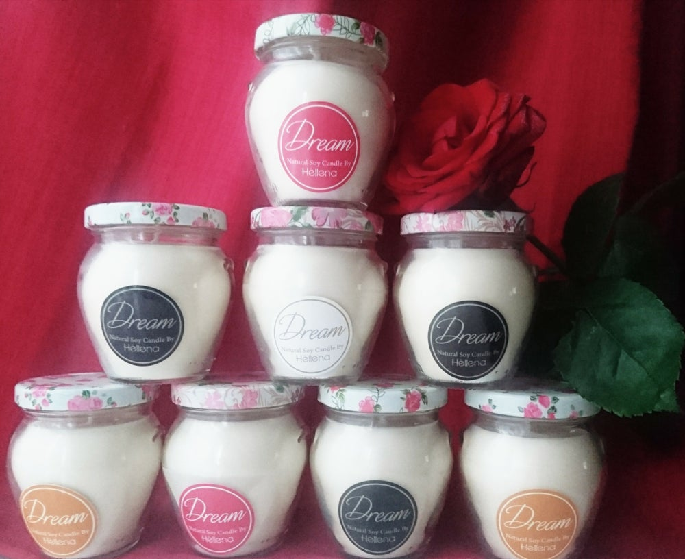 "Image of Homemade ""Dream"" Candles by Héllena"