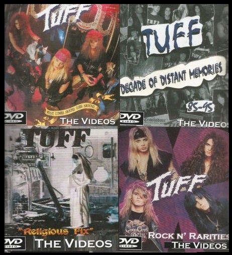 Image of TUFF Home DVD 4-pak, ALL factory DVDs, with inserts, See images for all info.