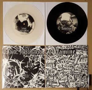 "Image of FAMINE / SATANIC MALFUNCTIONS SPLIT 7"" (2017)"