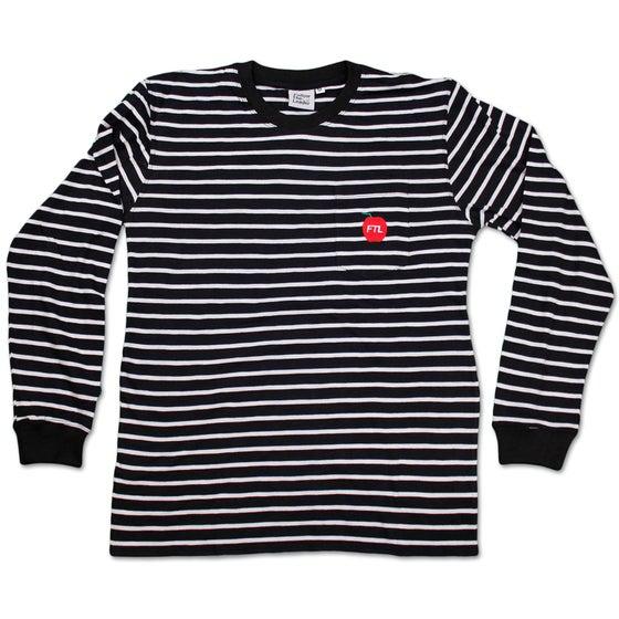 Image of Big Apple Striped Long Sleeve Pocket Shirt