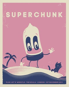 Image of SUPERCHUNK 2011 Gig Poster